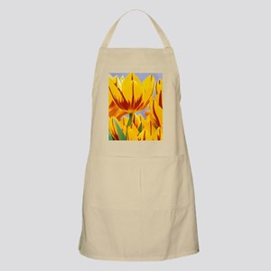 Indianapolis. Vibrant yellow and red spring  Apron