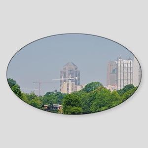 Atlanta. Atlanta skyline and its re Sticker (Oval)