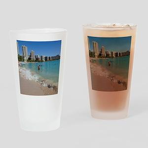 Waikiki, Honolulu, Oahu, Hawaii Drinking Glass