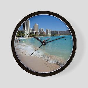 Waikiki, Honolulu, Oahu, Hawaii Wall Clock
