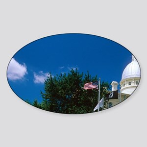 Illinois, Carlinville. The courthou Sticker (Oval)