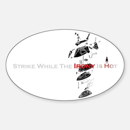 HotIron07 Sticker (Oval)