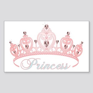 princess crown Sticker (Rectangle)