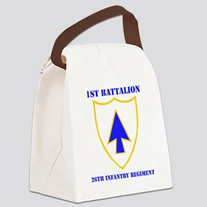 1-26TH IN RGT WITH TEXT Canvas Lunch Bag