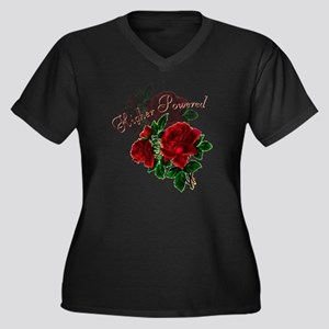 Higher Power Women's Plus Size Dark V-Neck T-Shirt
