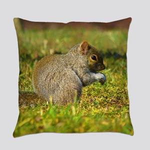 Baby Squirrel Everyday Pillow