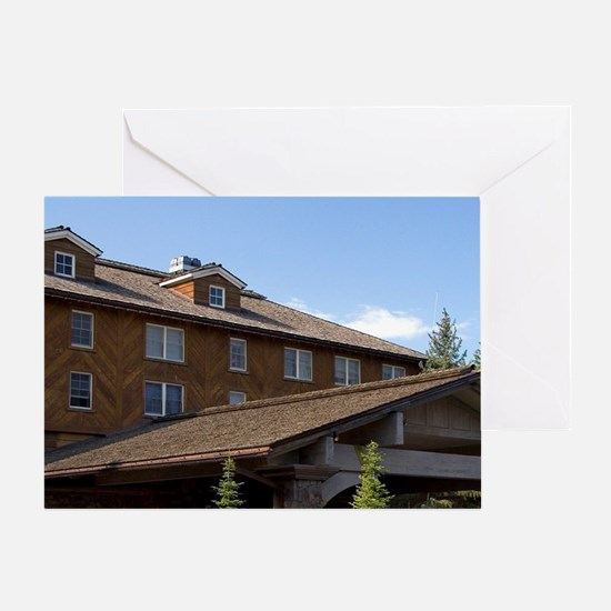 The Sun Valley Lodge located in Sun  Greeting Card