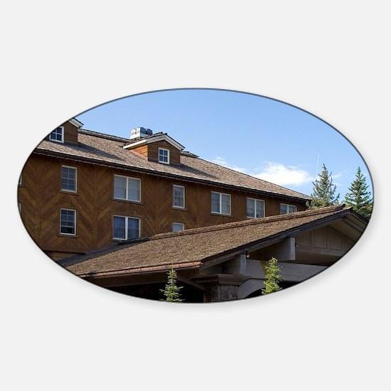 The Sun Valley Lodge located in Sun Sticker (Oval)