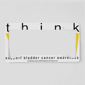 Bladder-Cancer-THINK-Yellow License Plate Holder