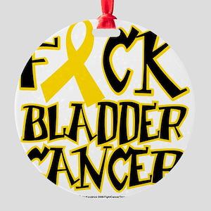 Fuck-Bladder-Cancer Round Ornament