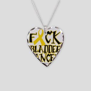 Fuck-Bladder-Cancer Necklace Heart Charm
