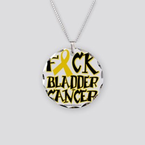 Fuck-Bladder-Cancer Necklace Circle Charm