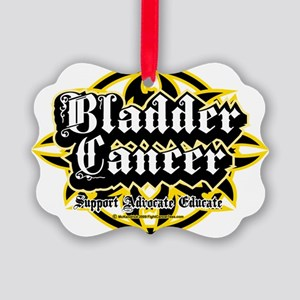 Bladder-Cancer-Tribal Picture Ornament