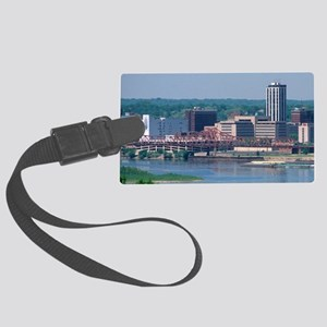 A view of Peoria and the Illinoi Large Luggage Tag