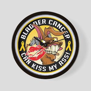 Bladder-Cancer-Can-Kiss-My-Donkey Wall Clock