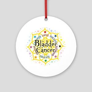 Bladder-Cancer-Lotus Round Ornament