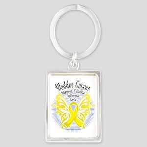 Bladder-Cancer-Butterfly-3 Portrait Keychain