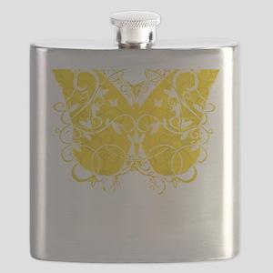 Bladder-Cancer-Butterfly-blk Flask