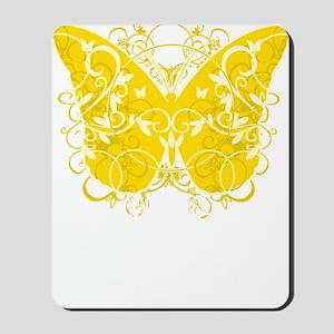 Bladder-Cancer-Butterfly-blk Mousepad
