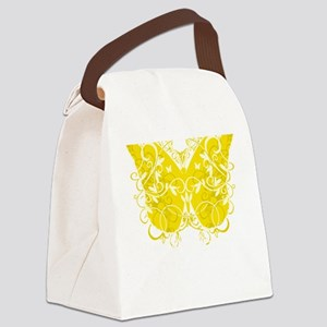 Bladder-Cancer-Butterfly-blk Canvas Lunch Bag