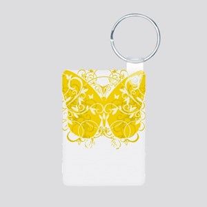 Bladder-Cancer-Butterfly-b Aluminum Photo Keychain