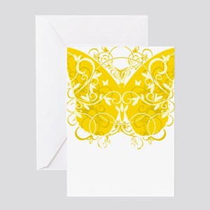 Bladder-Cancer-Butterfly-blk Greeting Card