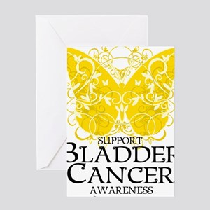Bladder-Cancer-Butterfly Greeting Card