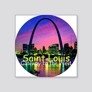 "St Louis Square Sticker 3"" x 3"""