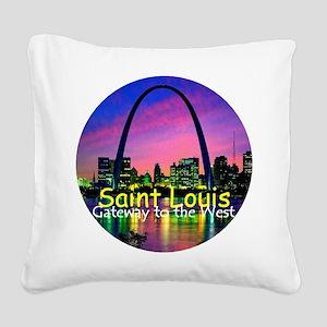 St Louis Square Canvas Pillow