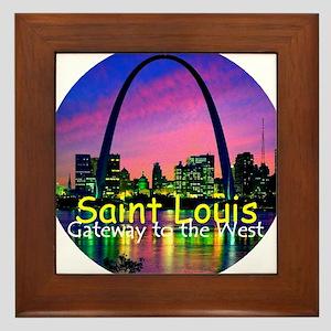 St Louis Framed Tile