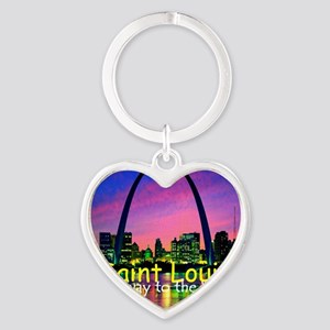 St Louis Heart Keychain