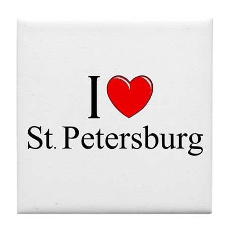 """I Love St. Petersburg"" Tile Coaster"