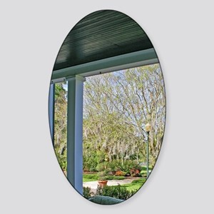 Porch at Leu House Museum at Harry  Sticker (Oval)