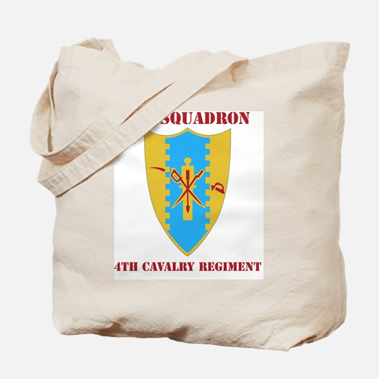 1-4TH CAV. RGT WITH TEXT Tote Bag