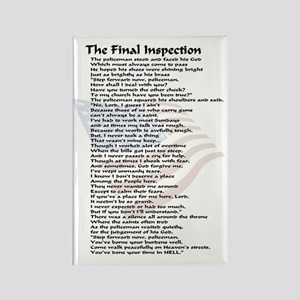 final inspection policeman copy Rectangle Magnet