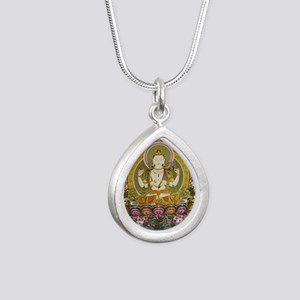 chenrizig Silver Teardrop Necklace