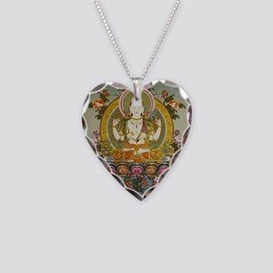 chenrizig Necklace Heart Charm