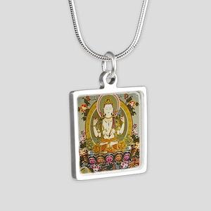 chenrizig Silver Square Necklace