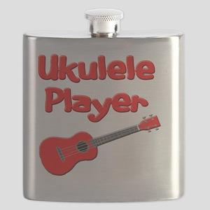 red ukulele Flask