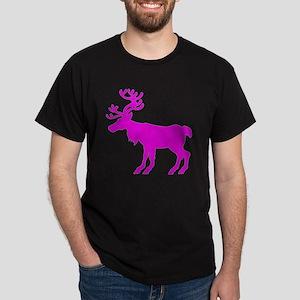 reindeer pink Dark T-Shirt