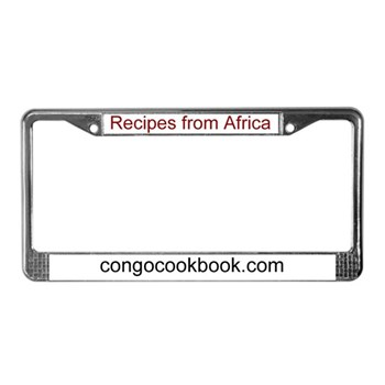 Congo Cookbook License Plate Frame