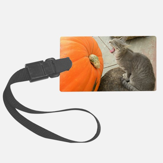 Cat Dreaming of Pumpkin Pie 9-22 Luggage Tag