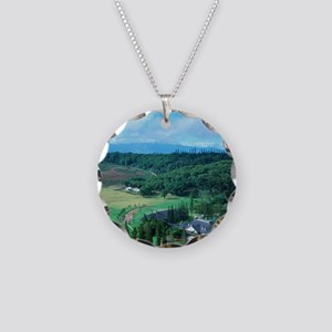 Koele Lodge, Lanai, Hawaii Necklace Circle Charm