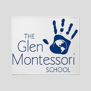 final_glen_logo-blue Throw Blanket