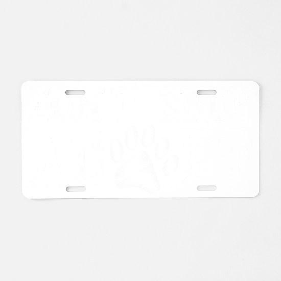 dont shop adopt_dark Aluminum License Plate
