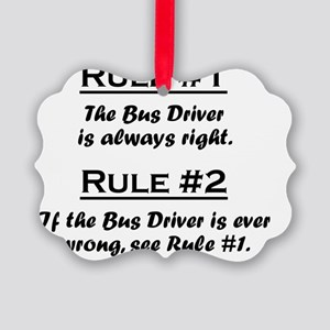 Rule Bus Driver Picture Ornament