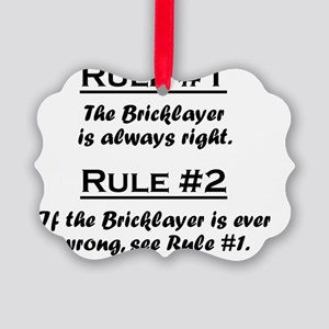 Rule Bricklayer Picture Ornament