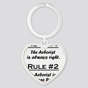 Rule Arborist Heart Keychain