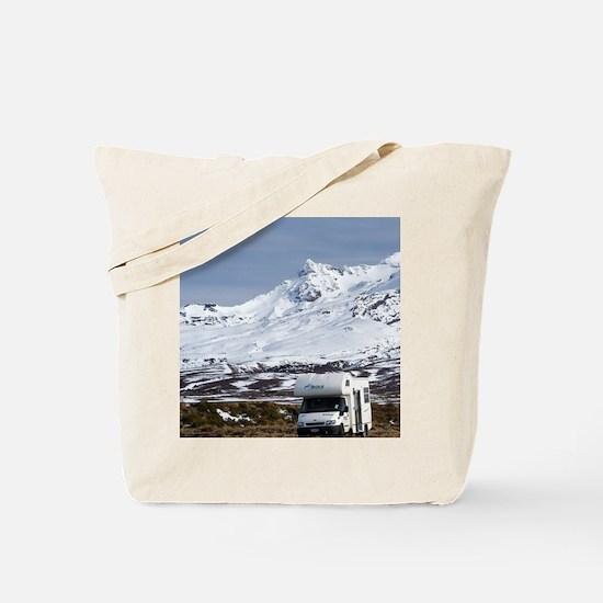 Campervan and Mt Ruapehu Tote Bag