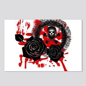 Bloody Skull Graphic Postcards (Package of 8)